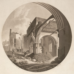 A View of Tower and Arch of St James's Church, Clerkenwell